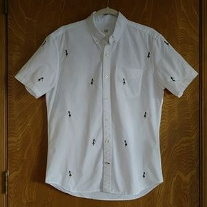 GAP Shirts - Embroidered Hula Dancers Button Up